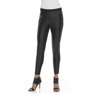 Metaphor Women's Ponte Leggings - Faux Leather