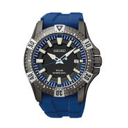 Seiko Mens Blue Strap Black Ion Case Solar Dive Watch SNE283 at Sears.com