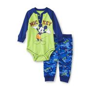 Disney Baby Mickey Mouse Newborn Boy's Graphic Bodysuit & Cargo Pants at Kmart.com