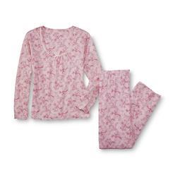 Pink K Women's Pajama Top & Pants - Floral at Kmart.com