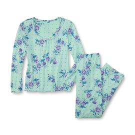 Pink K Women's Pajama Top & Pants - Floral at Kmart.com