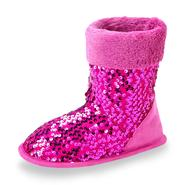 Joe Boxer Girl's Pink Sequin Bootie Slipper at Sears.com
