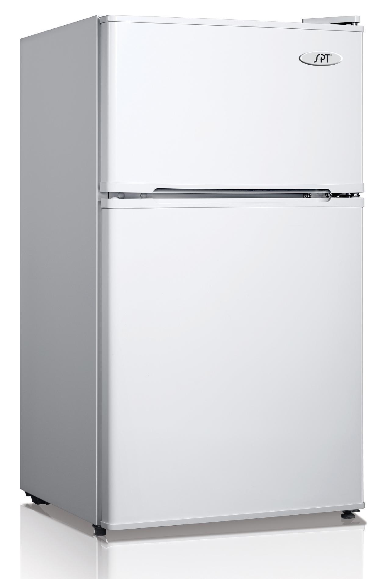 Double Door Refrigerator In White   Energy