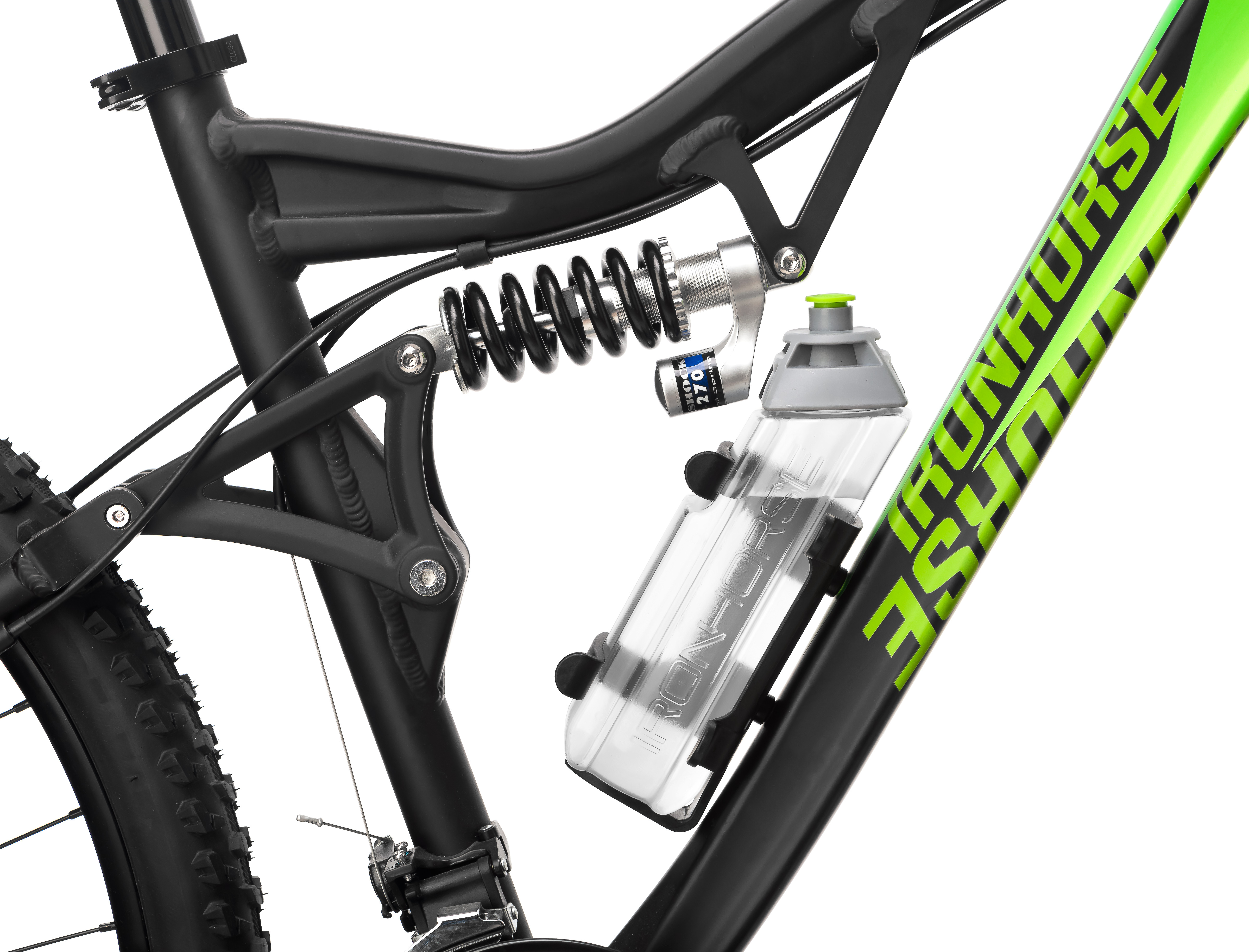IRON HORSE Water Bottle with Cage