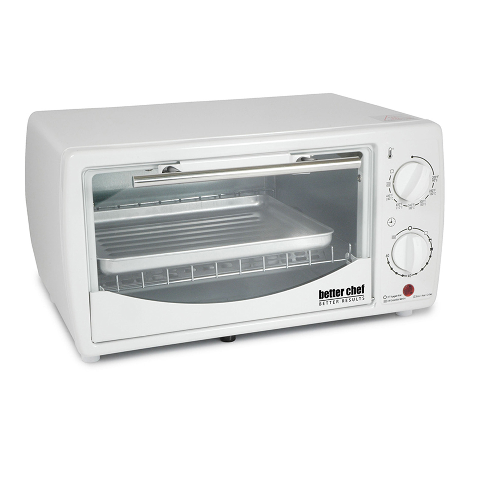 Image of Better Chef 97089570M 8-Liter Toaster Oven Broiler - White
