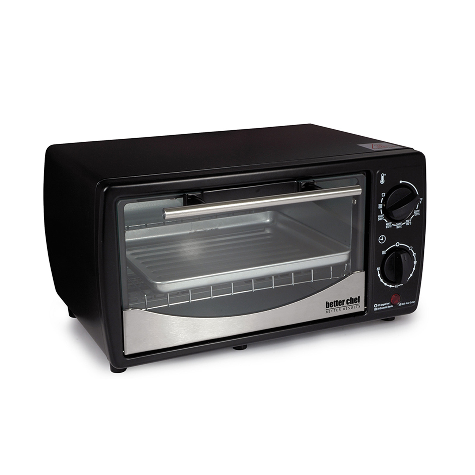 Image of Better Chef 97089571M 4-Slice Toaster Oven - Black