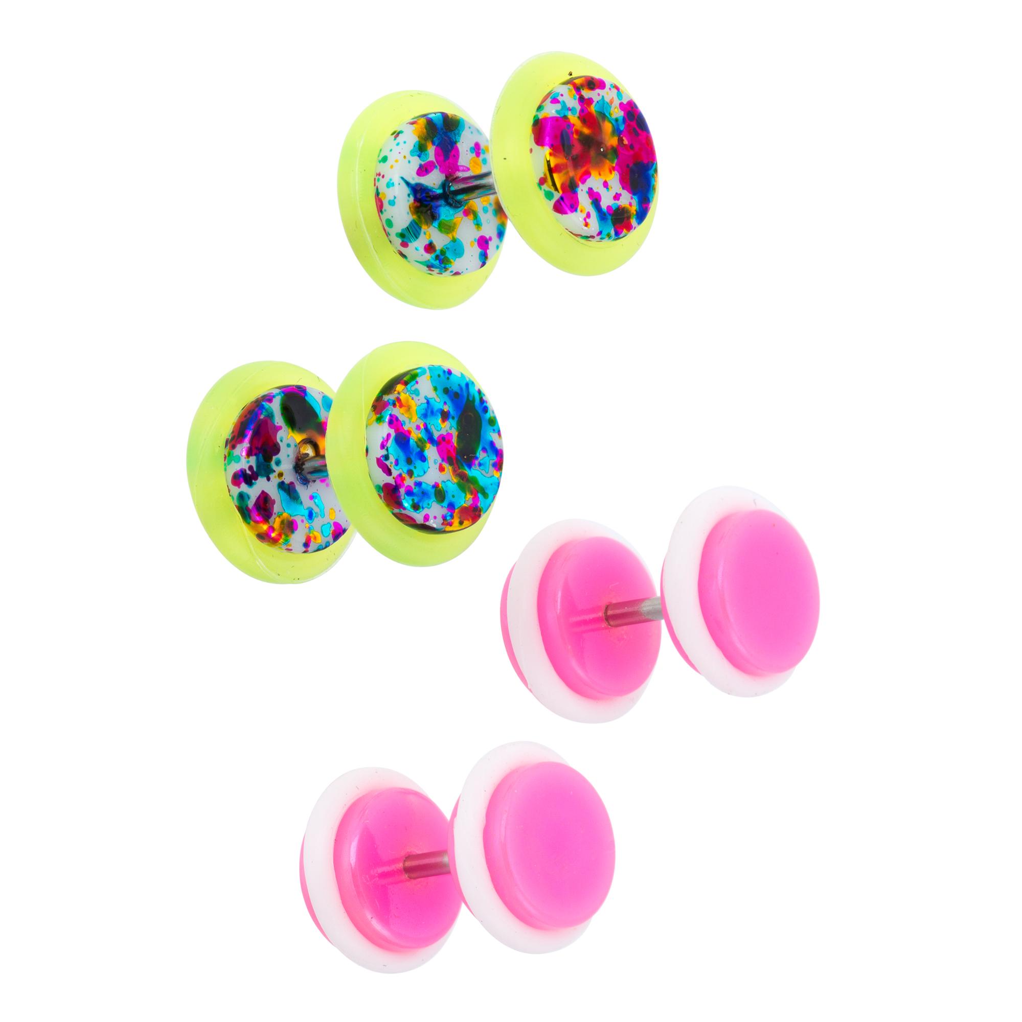 Bodi-Rox Pink Metallic Mix Color 2 Pair Fake Plug Set PartNumber: 026V008435008003P KsnValue: 026V008435008003 MfgPartNumber: 17916FP