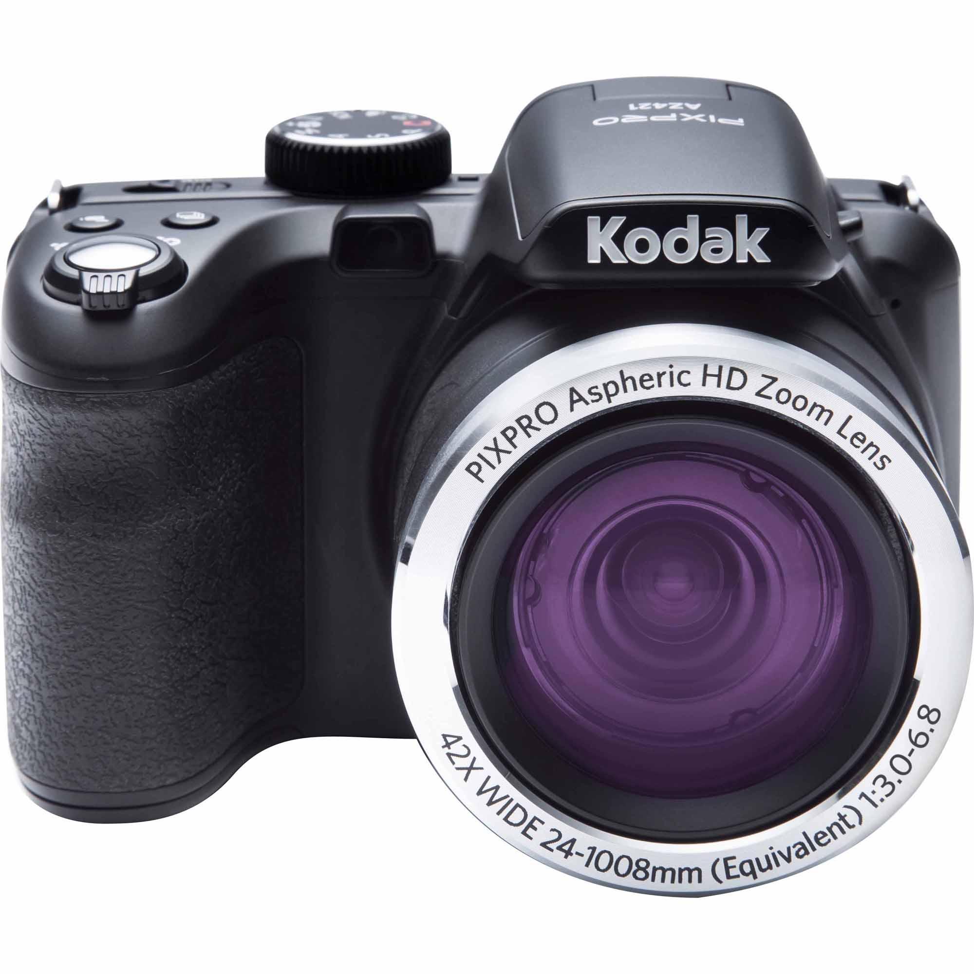 Kodak AZ421-BK 16-Megapixel Pixpro AZ421 Digital Camera w/ 42x Zoom - Black