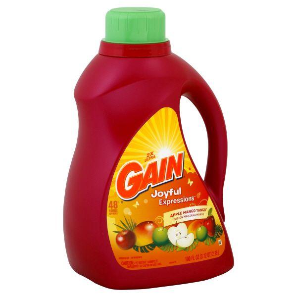 Gain Joyful Expressions, Liquid Detergent, 2X Ultra, Apple Mango Tango, 100 fl oz (3.12 qt) 2.95 lt, Size: 100 oz. im test