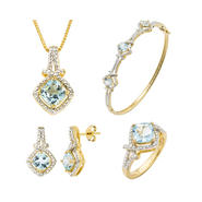 GOB Genuine Sky Blue Topaz & Diamond Accent 4 Piece Set at Kmart.com