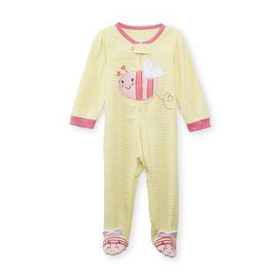 Little Wonders Newborn Girl's Footed Sleeper Pajamas - Happy Bee