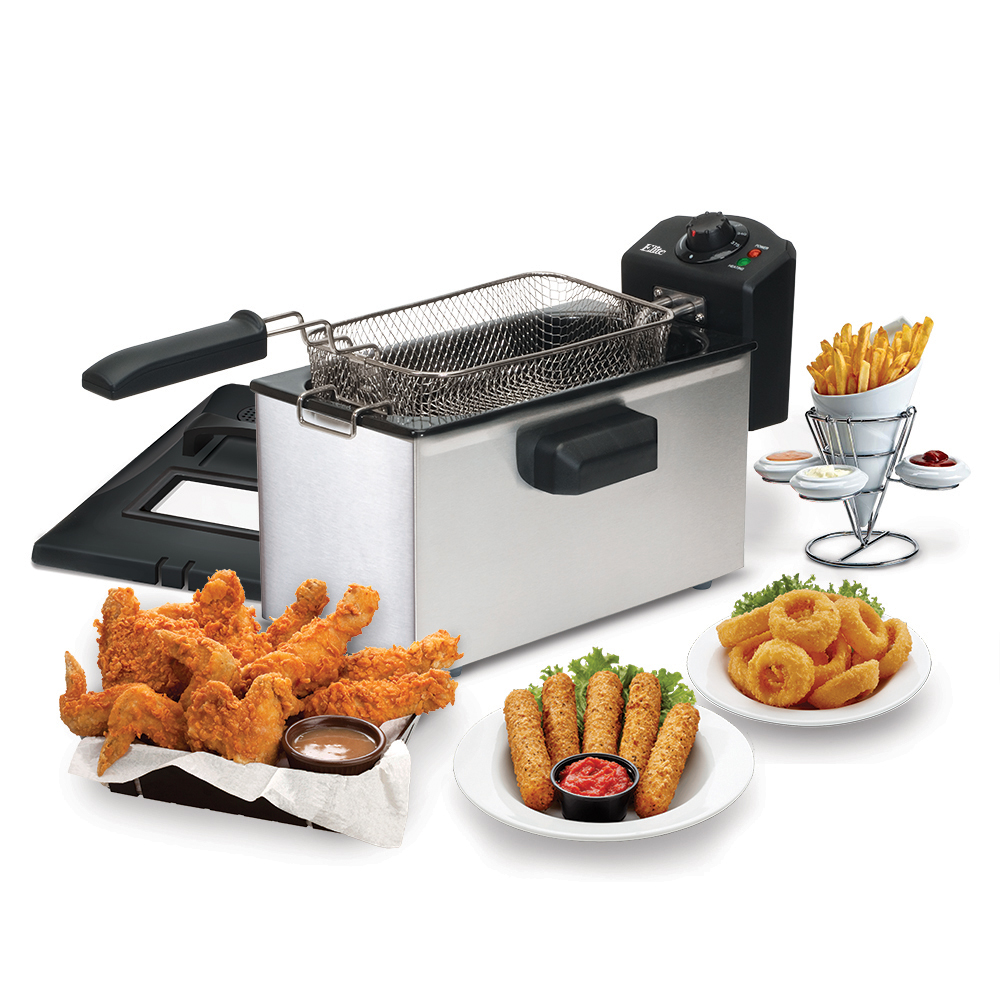 Elite Elite EDF-3507 Cuisine 3.5 qt Immersion Deep Fryer w/Temp Knob PartNumber: 00850372000P KsnValue: 6687746 MfgPartNumber: EDF-3507