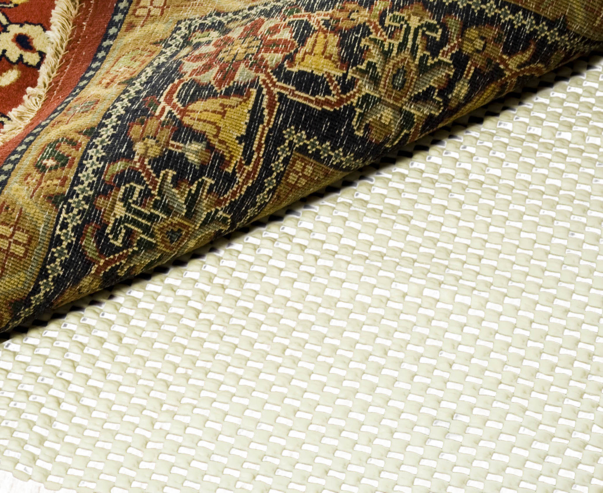 Image of Safavieh Grid White 2 ft. x 4 ft. Non-Slip Rug Pad