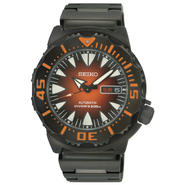 Seiko Mens Black Ion Finish Orange Dial Automatic Watch SRP311 at Sears.com