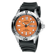 Seiko Mens Orange Dial Solar Divers Watch SNE109 at Sears.com