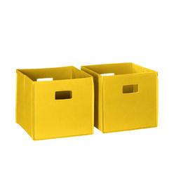 RiverRidge Home Products RiverRidge 2 Pc Folding Storage Bin Set - Yellow at Kmart.com