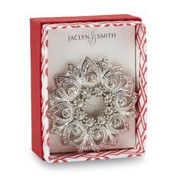 Jaclyn Smith Women's Silvertone Jeweled Medallion Lapel Pin at Kmart.com
