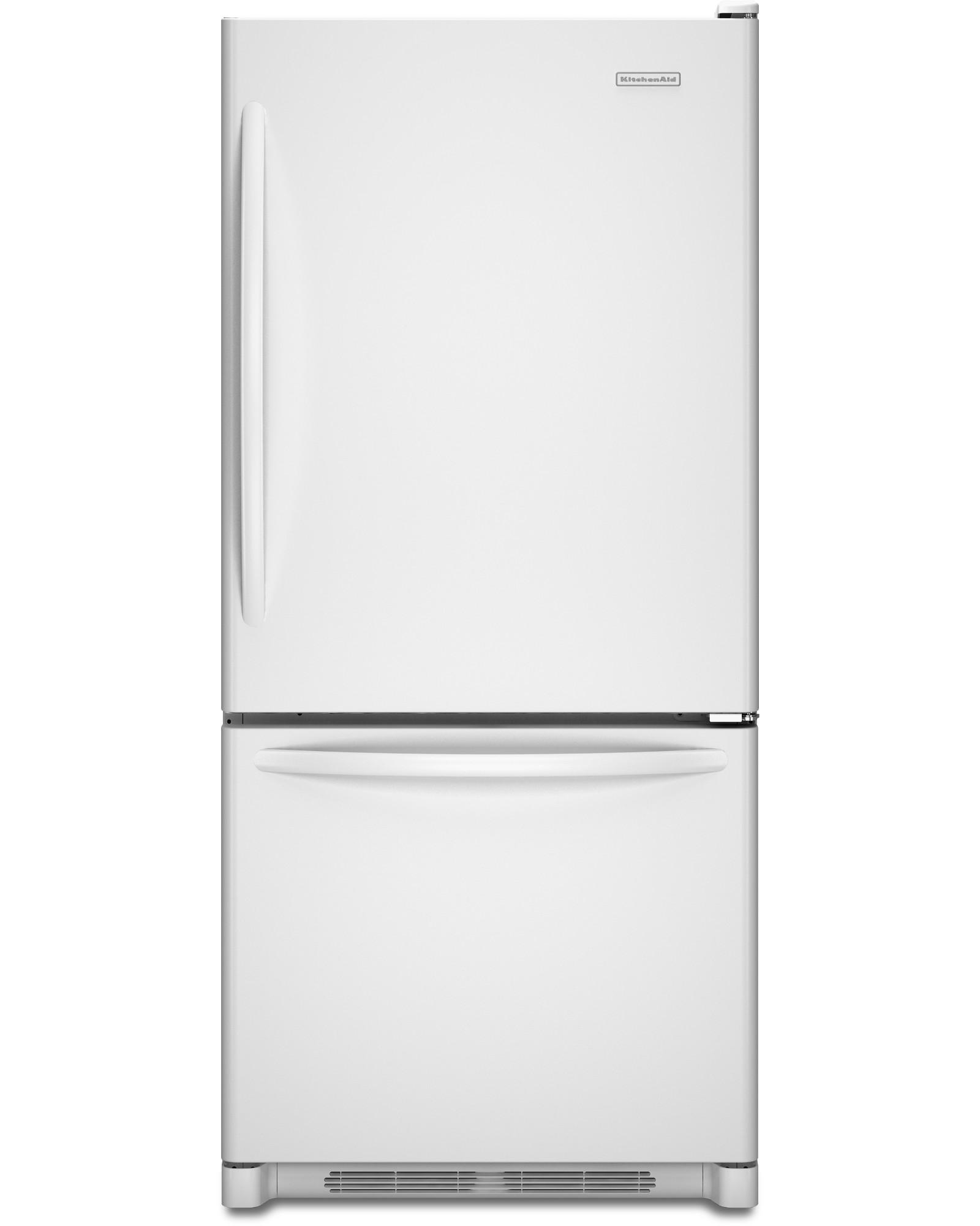 KitchenAid KBWS19KCWH 18.7 cu. ft. Single Door Bottom Freezer Refrigerator w/ Produce Preserver - White PartNumber: 04606902000P KsnValue: 04606902000 MfgPartNumber: KBWS19KCWH