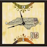 Green Leaf Art Yellow North Carolina Art Clock at Kmart.com