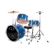 GP Percussion GP50 3-Piece Junior Drum Set With Cymbals and Throne in Metallic Royal Blue at Kmart.com