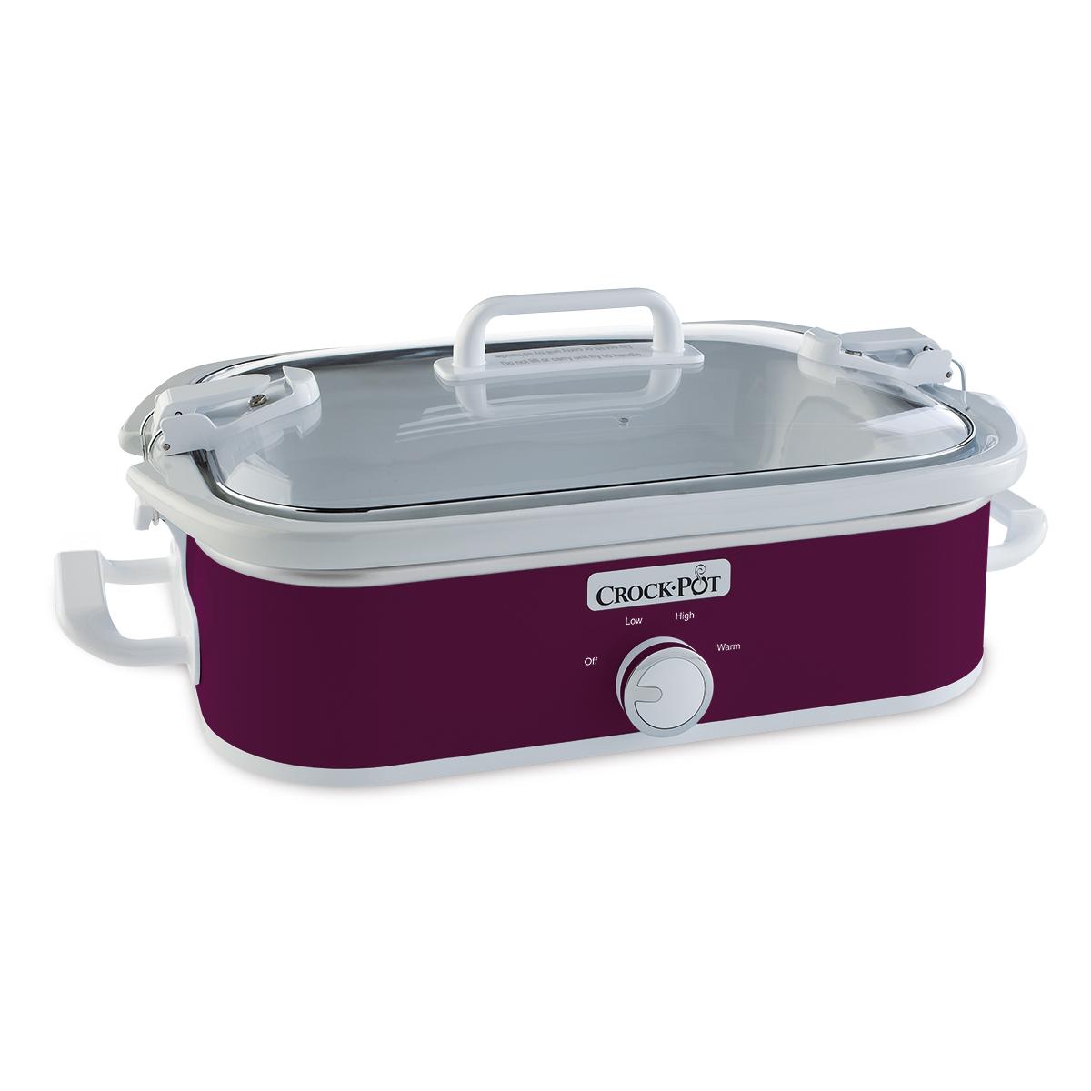 crockpot 35quart casserole crock manual slow cooker