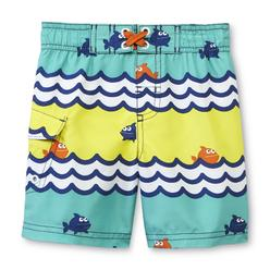 WonderKids Infant & Toddler Boy's Cargo Swim Shorts - Fish at Kmart.com