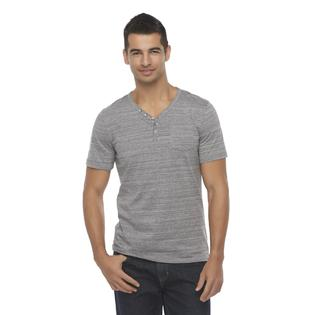 Structure Men's Y-Neck Henley Shirt - Space-Dyed