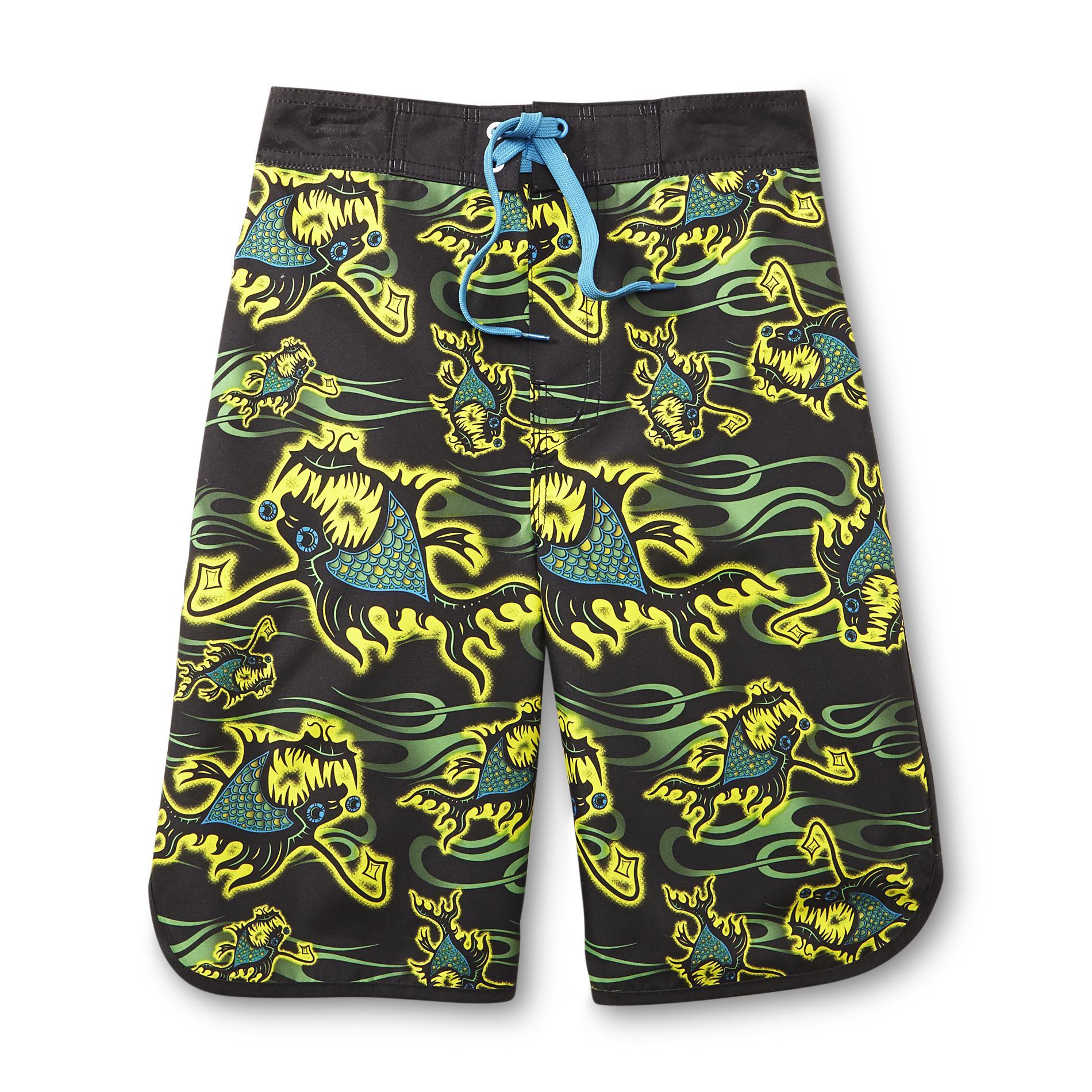 Joe boxer boy 39 s swim trunks angler fish for Fishing swim trunks