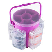Stalwart 600 Piece Portable Tool Hardware Storage Caddy - pink at Kmart.com