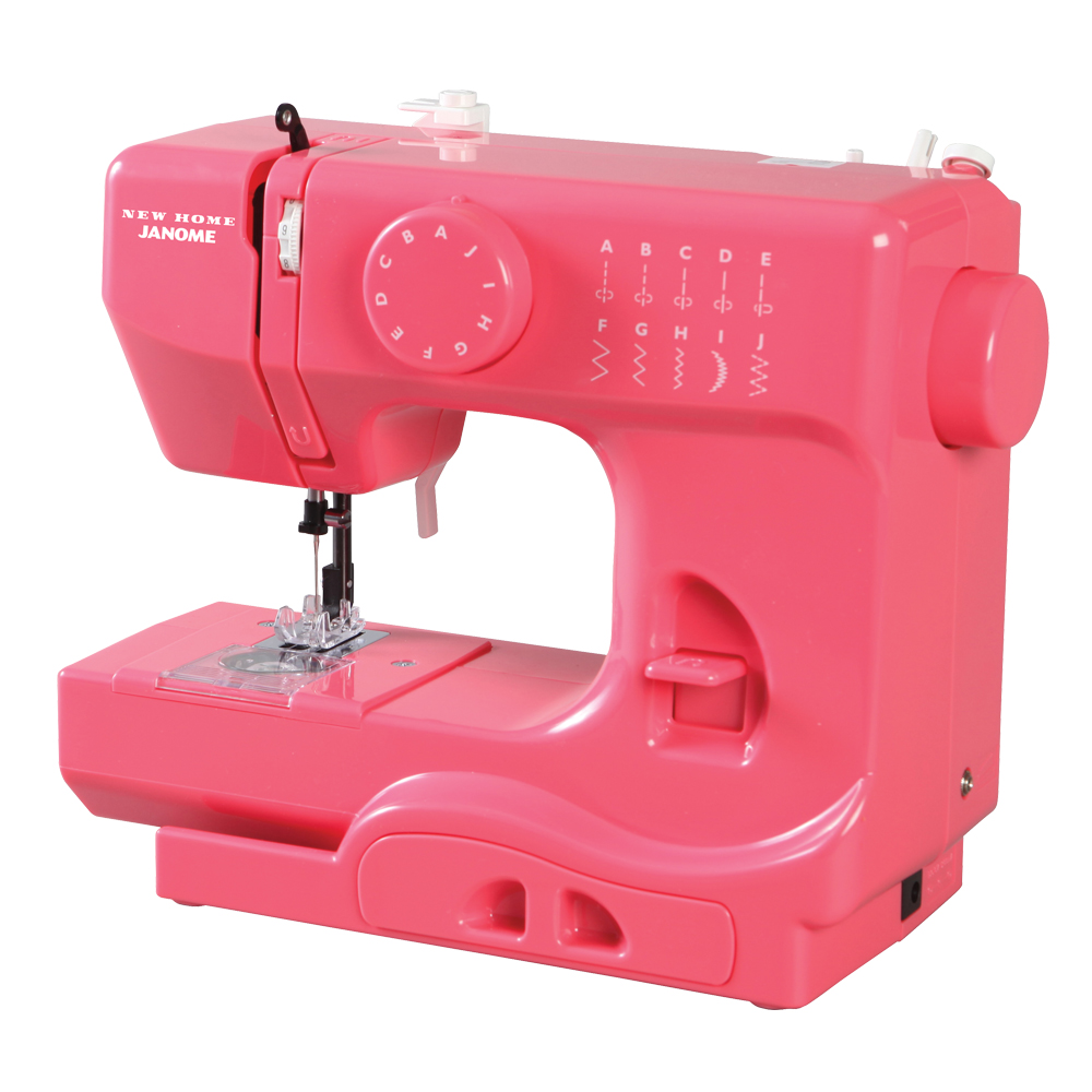 Janome Pink Lighting Portable Sewing Machine