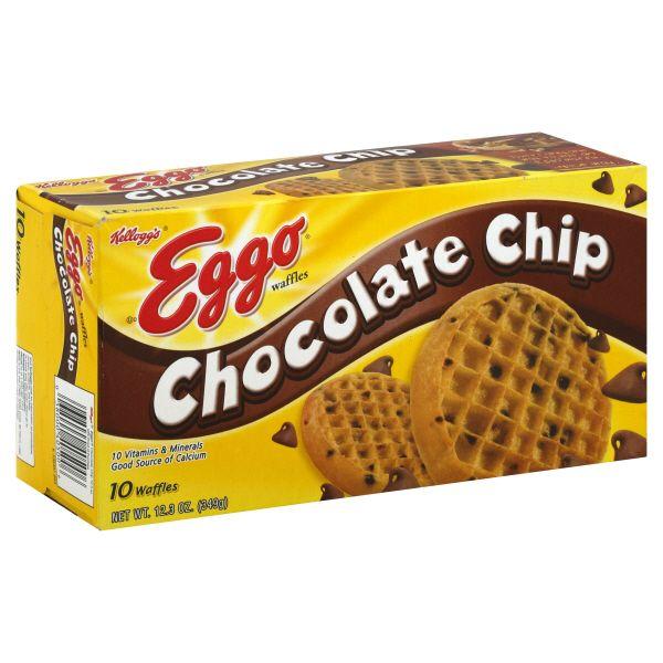 Eggo Waffles, Chocolate Chip, 10 waffles [12.3 oz (349 g)] at mygofer.com
