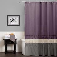 Lush Décor Mia Purple/Gray Shower Curtain at Sears.com