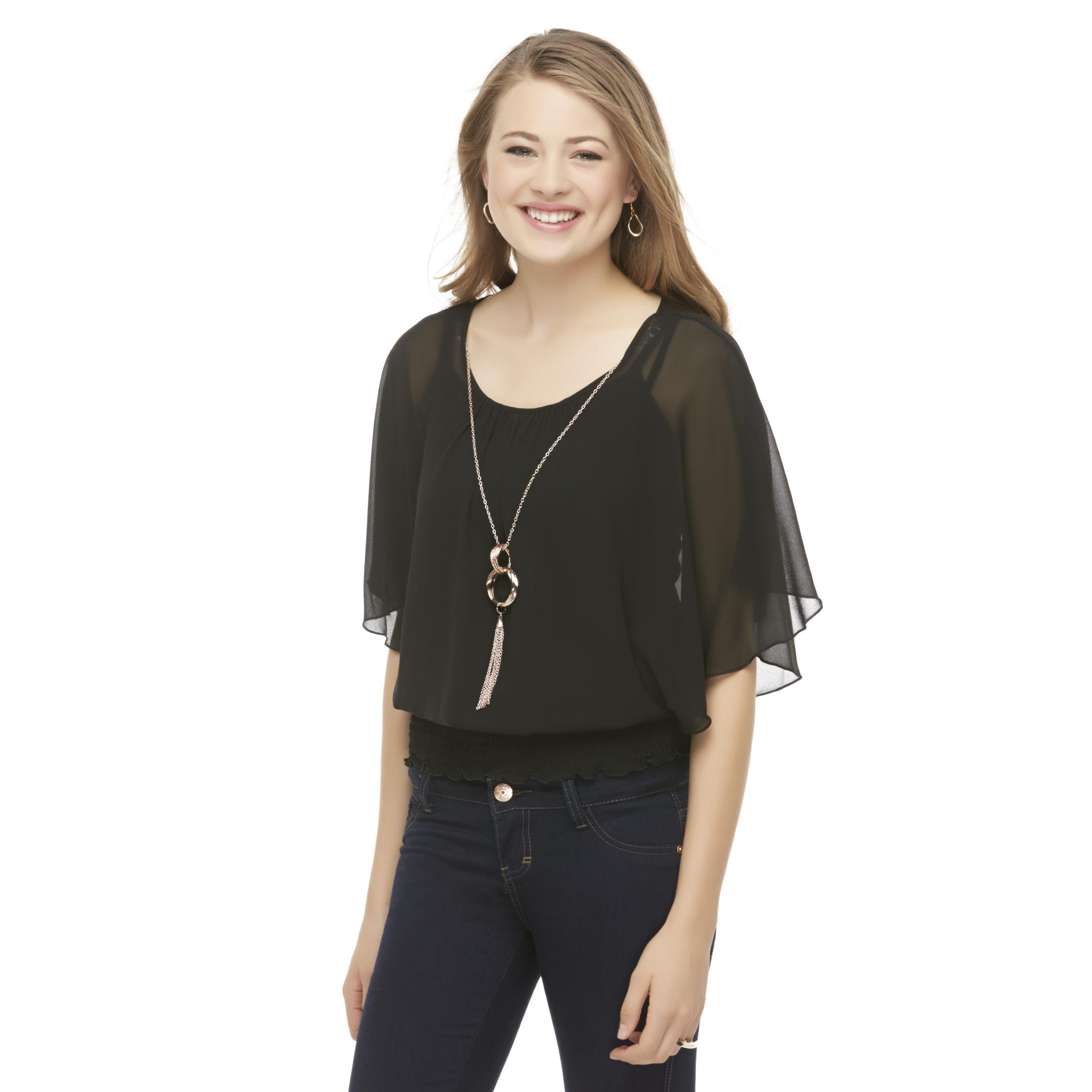 Bongo Junior's Sheer Peasant Blouse at Sears.com
