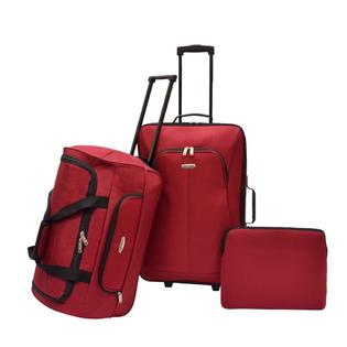 Concourse Southfield 3 Piece Luggage Set - Red