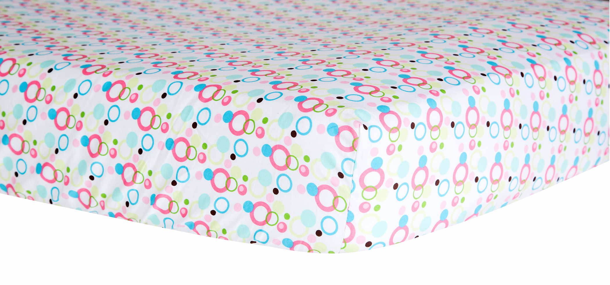 Trend Lab Cupcake Dot Crib Sheet