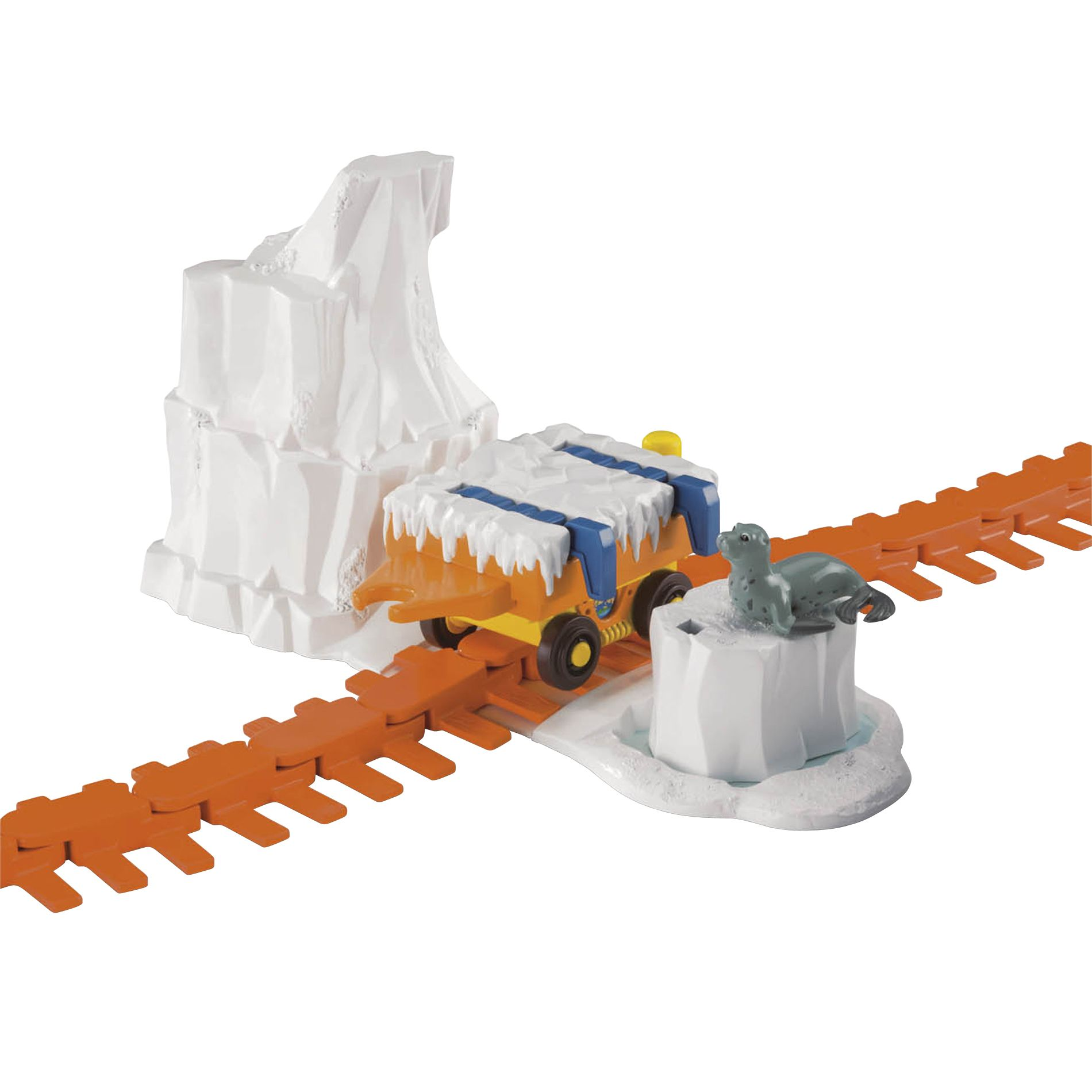Fisher-Price Go Diego Go Animal Rescue Railway Location Pack - Rescue Arctic with Seal PartNumber: 05214297000P KsnValue: 05214297000 MfgPartNumber: M8819-b