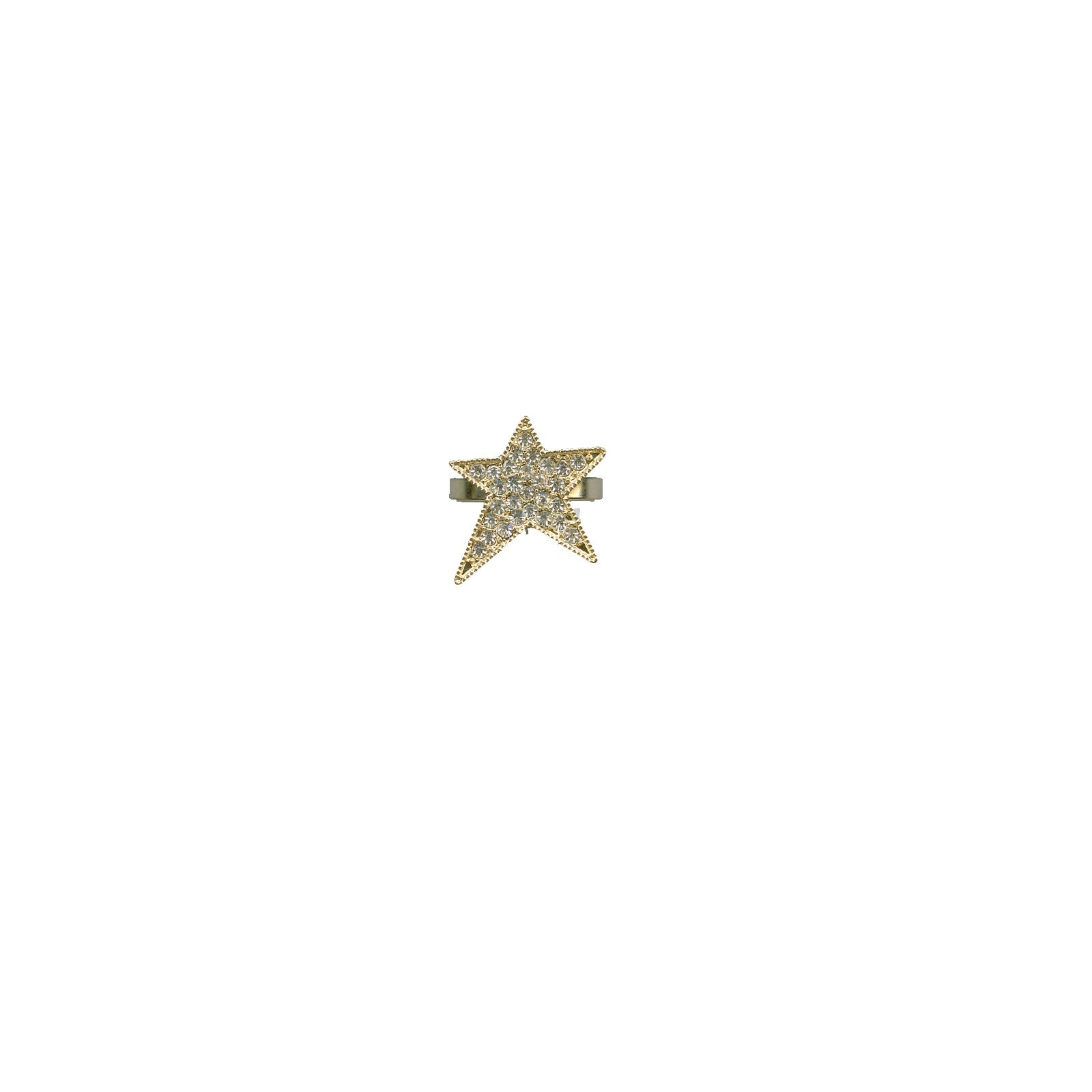 Women's Goldtone Rhinestone Star Ring