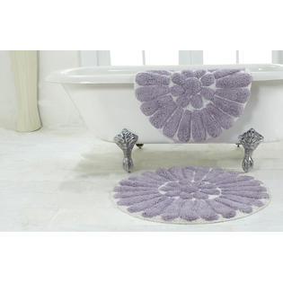 chesapeake merchandising bursting flower 2 piece bath rug
