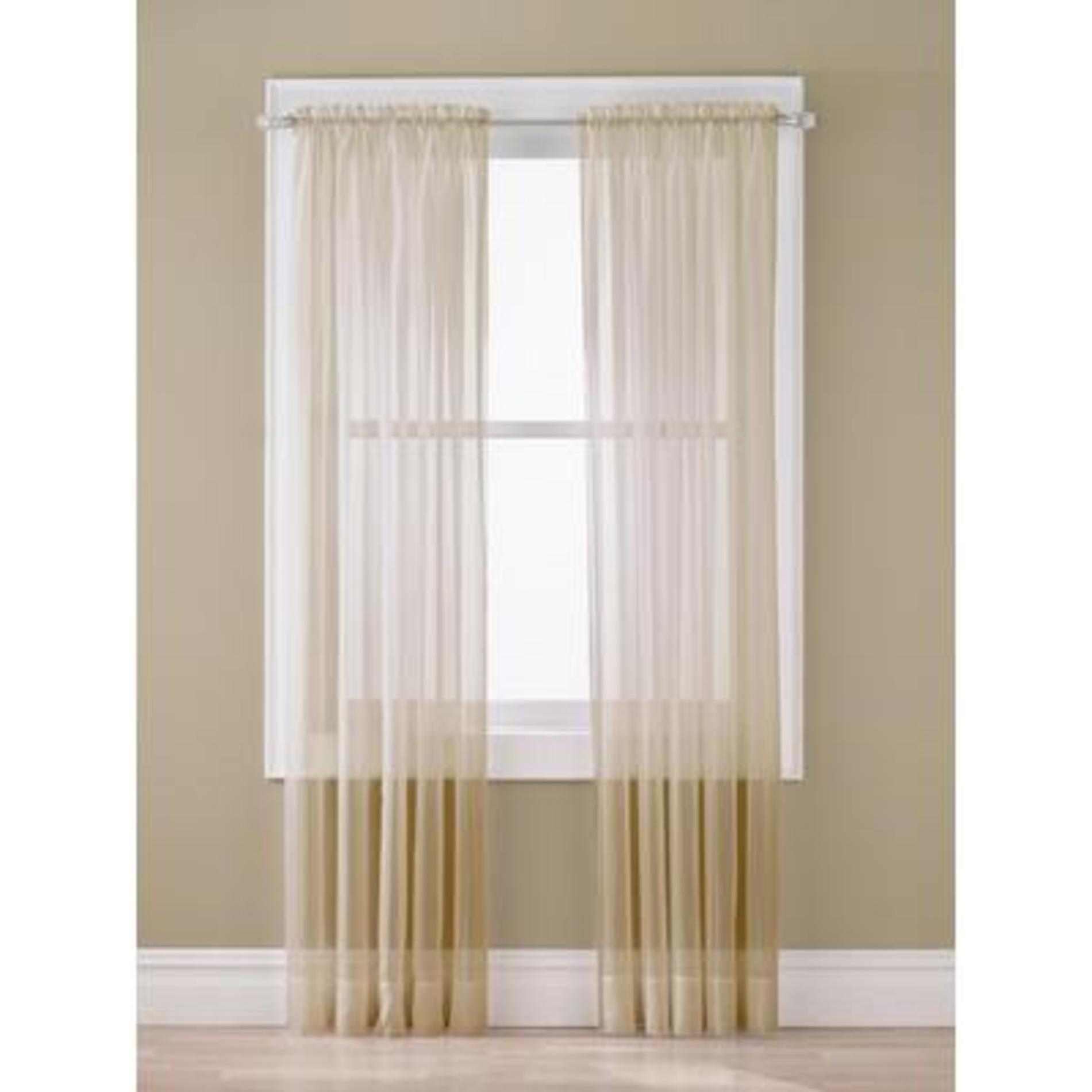 Sheer Voile Panel - Taupe