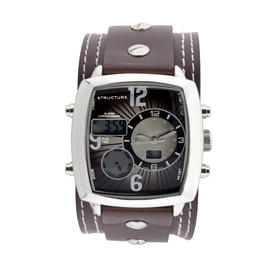 Structure Men's Chrono Classic. Brown Leather watch. at Kmart.com