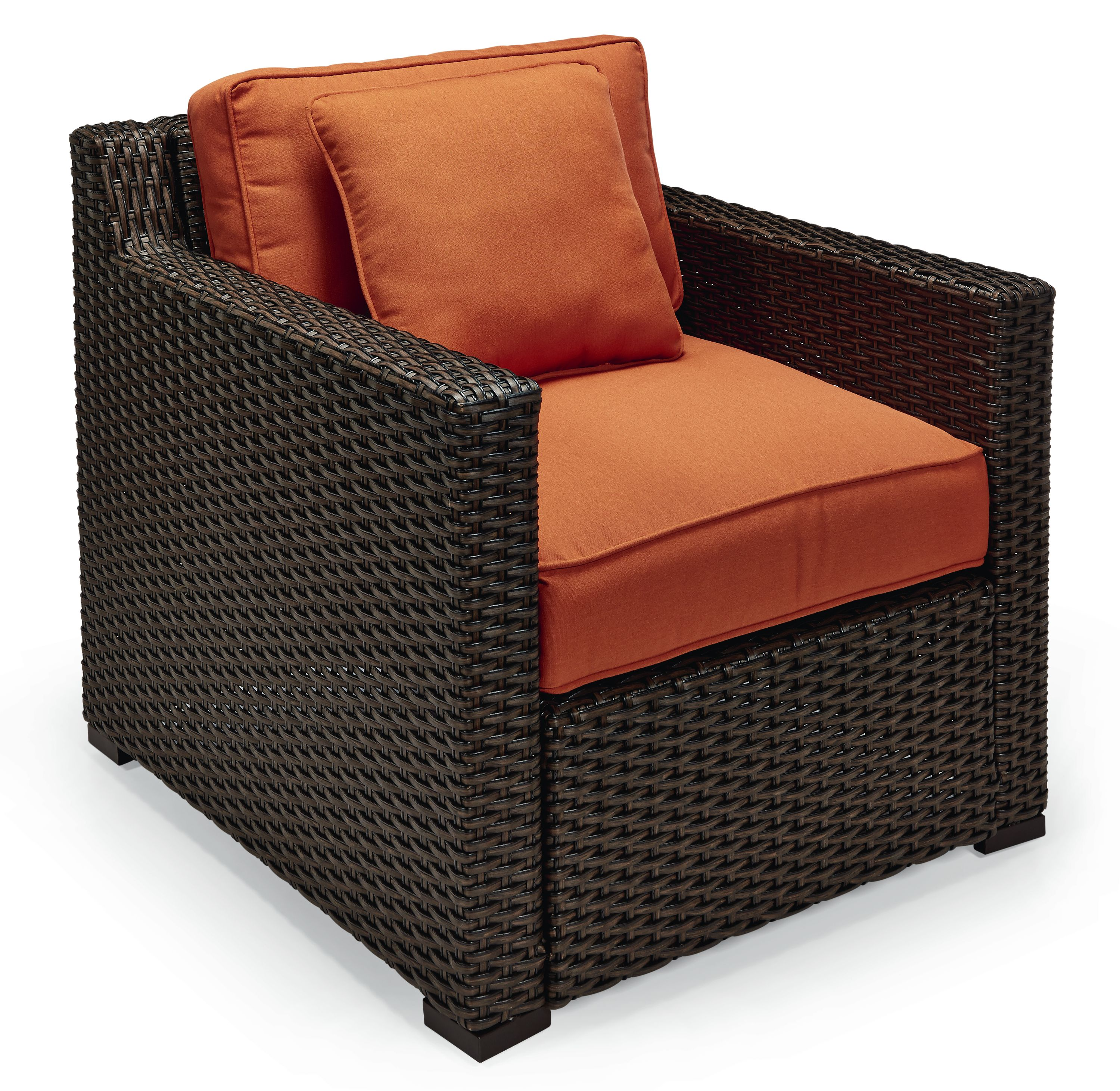 Agio International Moore Haven Woven Club Chair- Rust