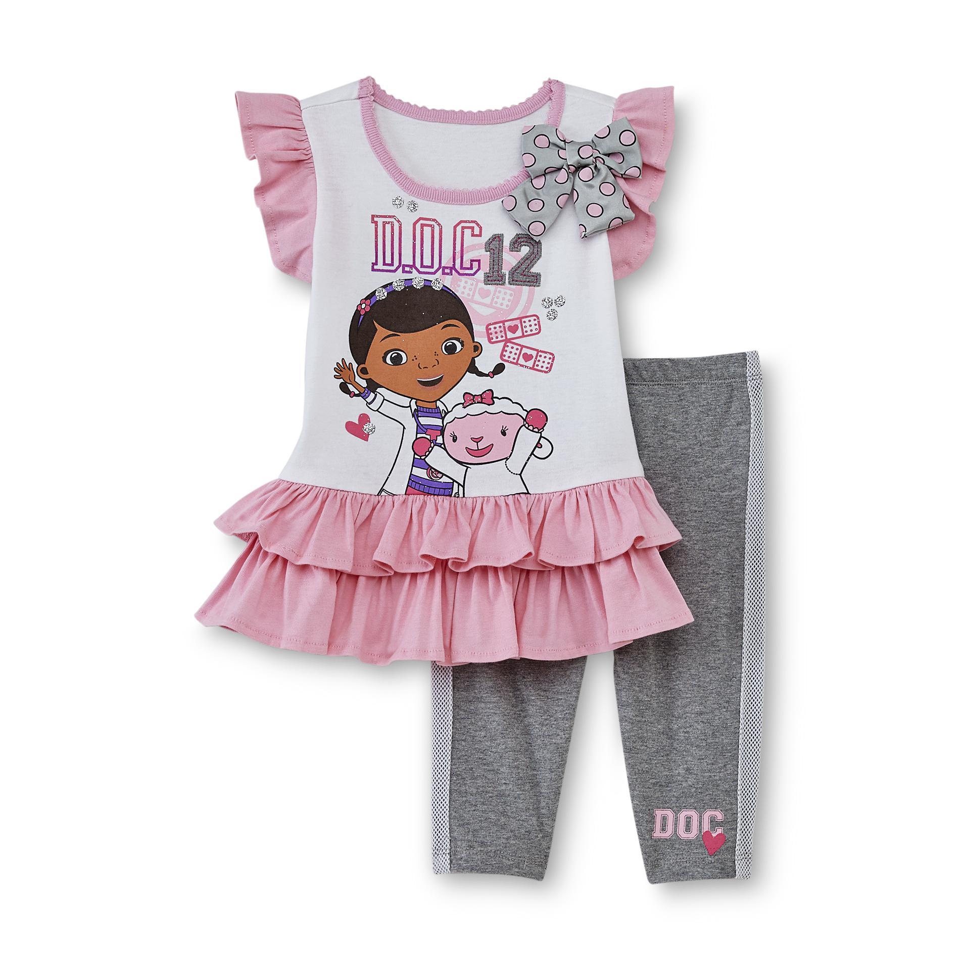 Disney Baby Doc McStuffins Toddler Girl's Dress & Leggings