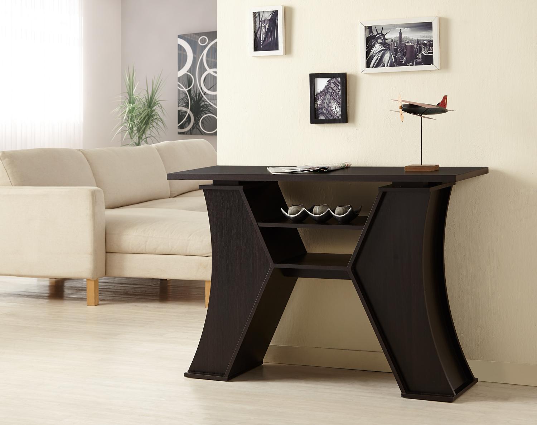 Furniture of America Illuminata Sheik Espresso Sofa Table