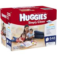 Huggies Simply Clean Baby Wipes, Refill, 648 Count at Kmart.com