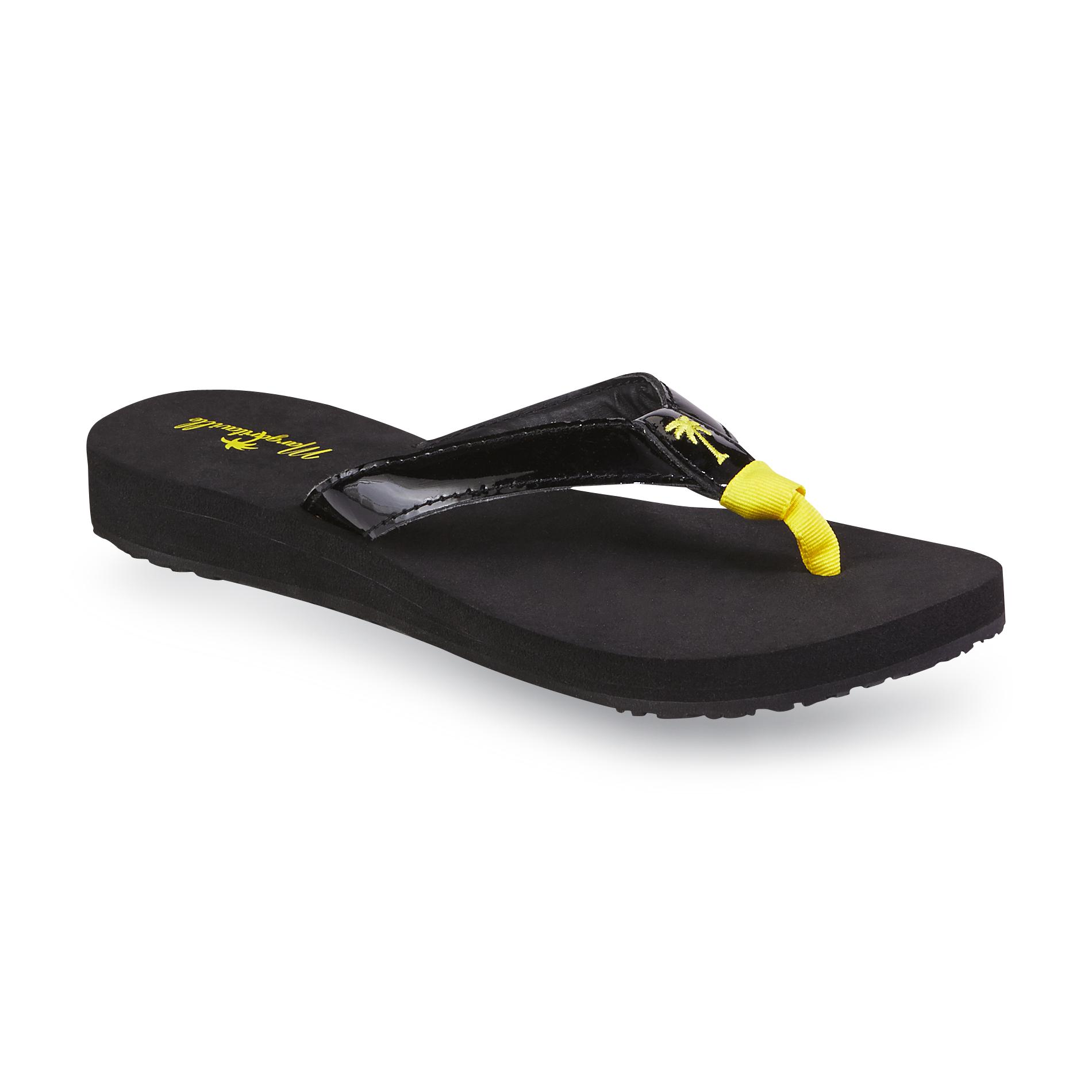 Margaritaville Women's Mezzanine Black/Yellow Flip-Flop