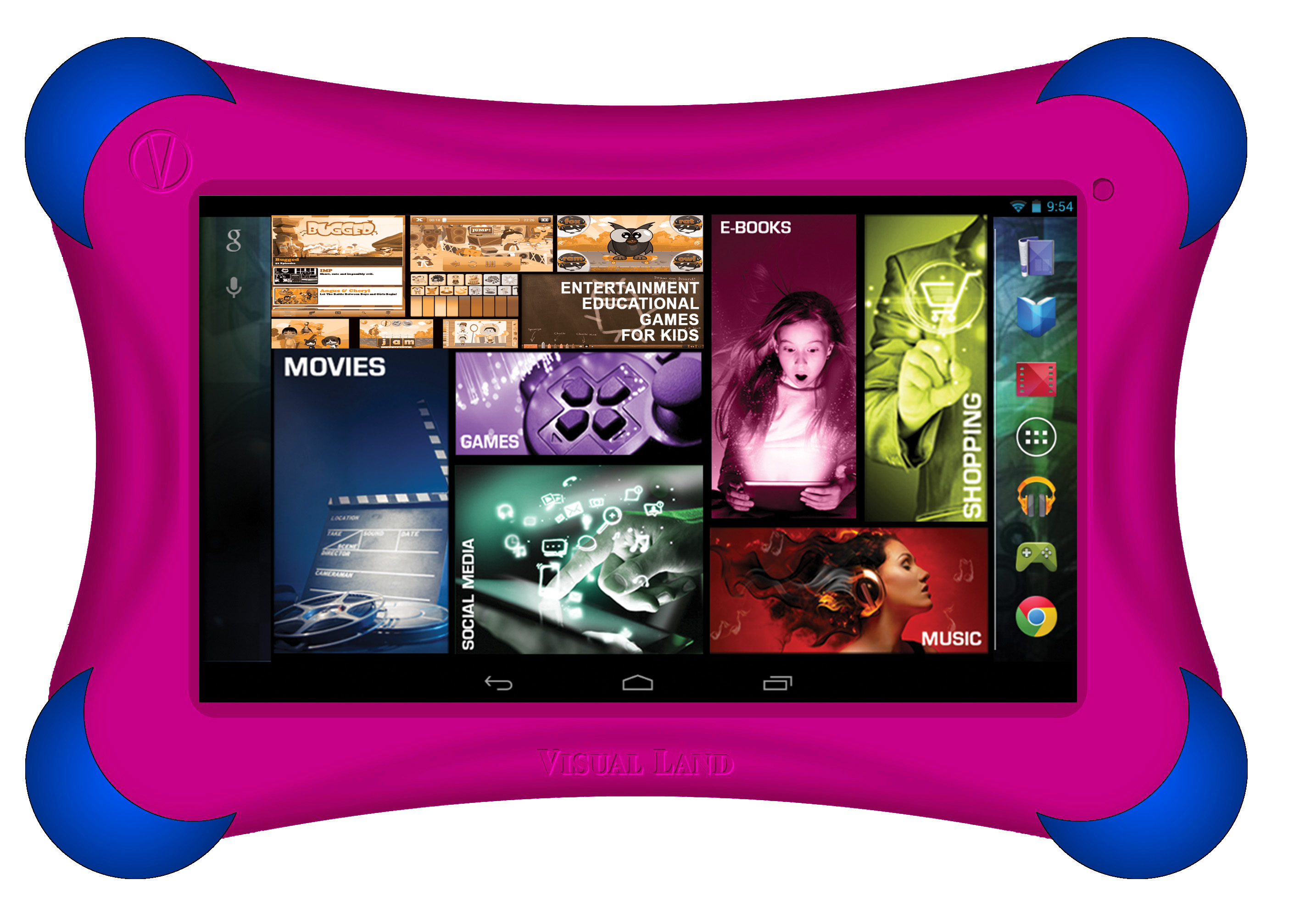 Visual Land Prestige Elite FamTab (Magenta) 7