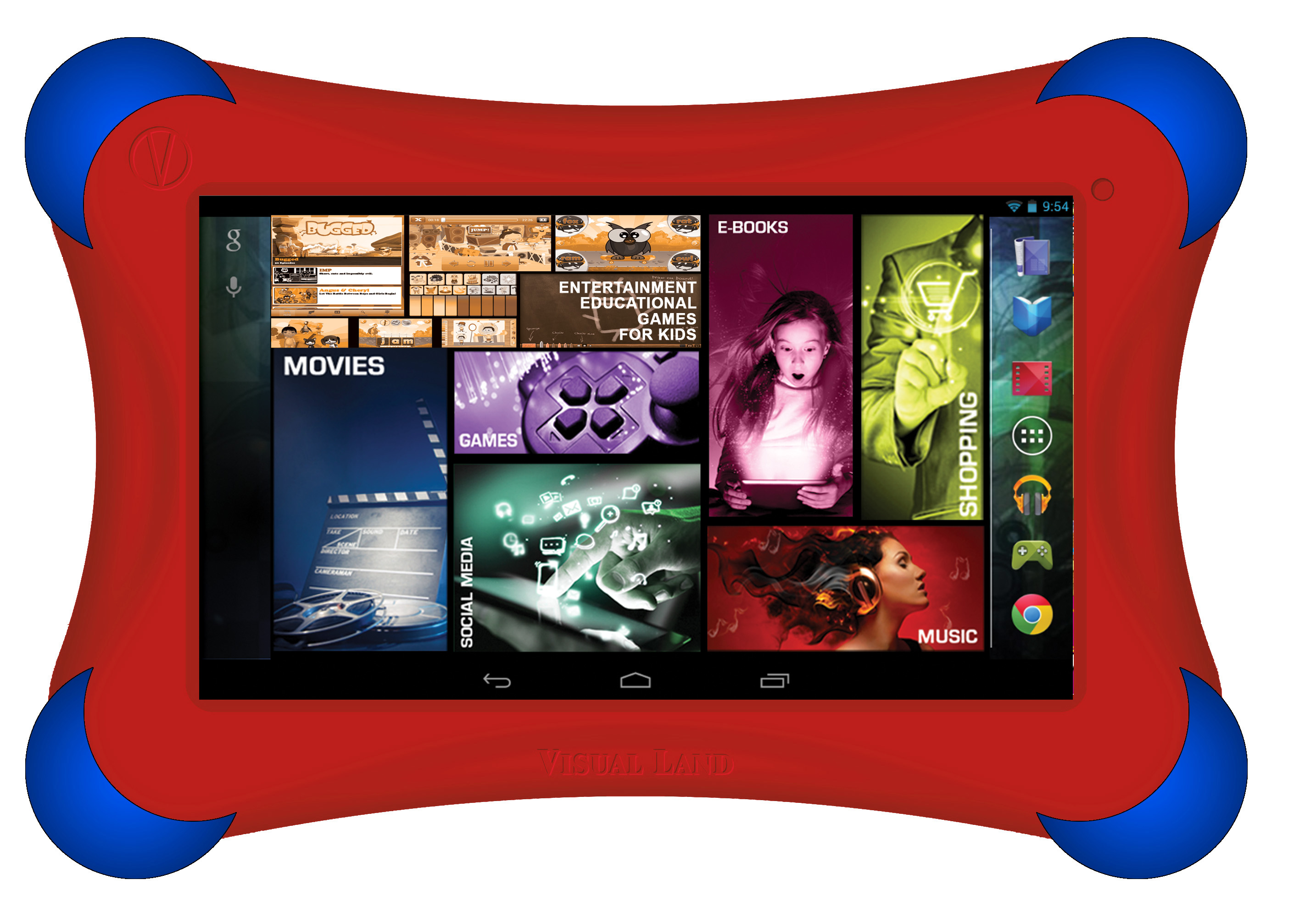 Visual Land Prestige Elite FamTab (Red) 7