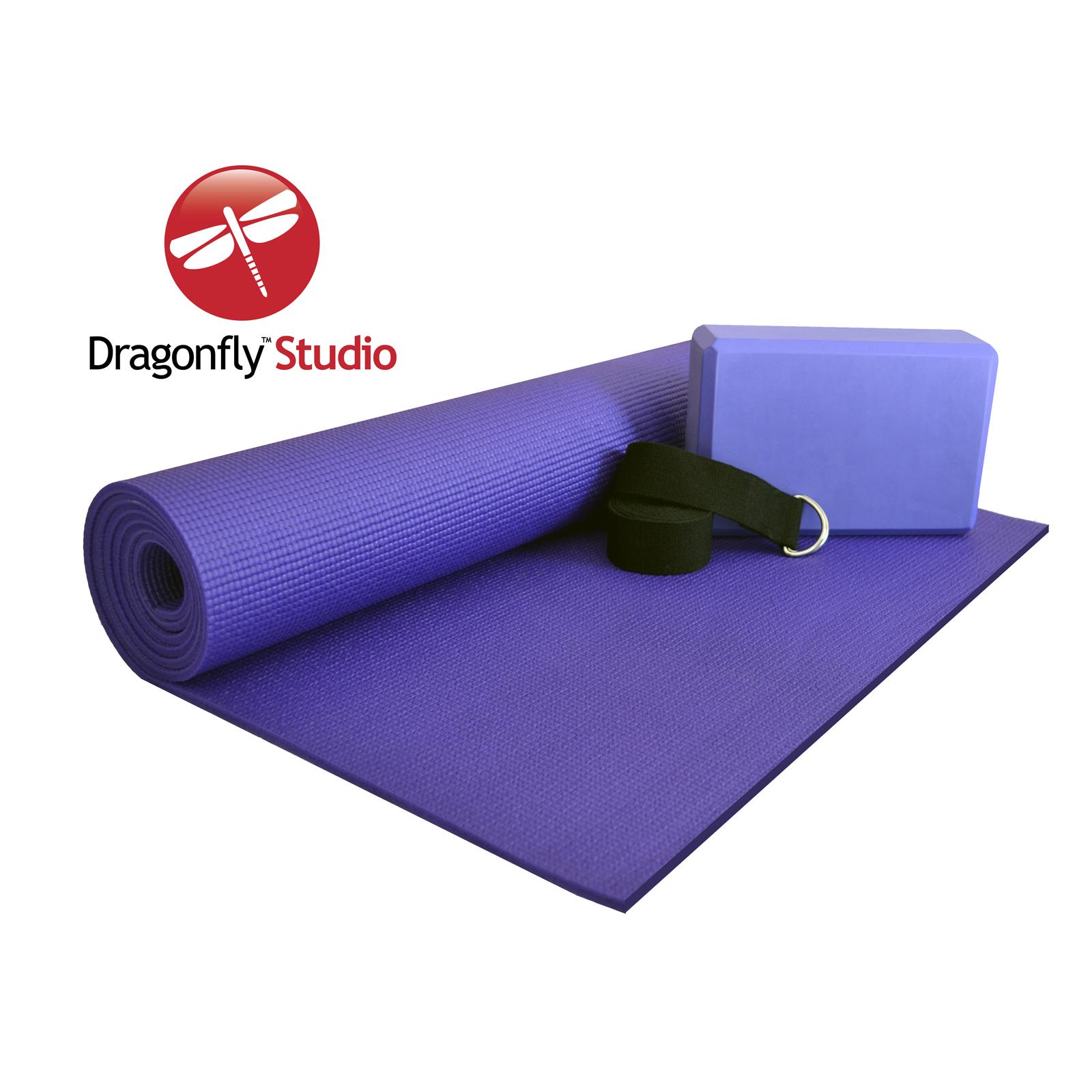 Dragonfly Studio Yoga Kit - 6mm mat  block and strap PartNumber: 00684611000P KsnValue: 00684611000 MfgPartNumber: Y141STDYOGKT