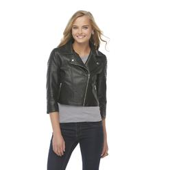 Joe Boxer Women's Synthetic Leather Moto Jacket at Kmart.com