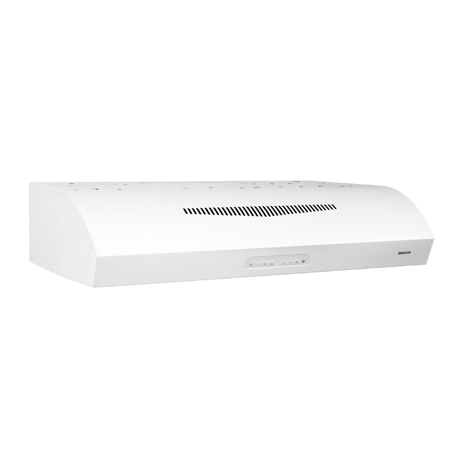 "Broan QP236WW 36"" 350 CFM Under Cabinet Range Hood - White"